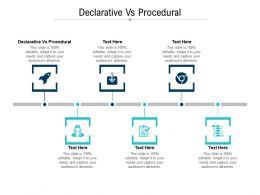 Declarative Vs Procedural Ppt Powerpoint Presentation Infographic Template Sample Cpb
