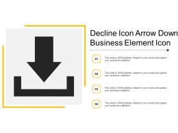 Decline Icon Arrow Down Business Element Icon