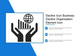 Decline Icon Business Decline Organisation Element Icon