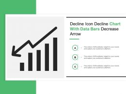 Decline Icon Decline Chart With Data Bars Decrease Arrow