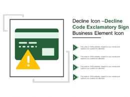 Decline Icon Decline Code Exclamatory Sign Business Element Icon
