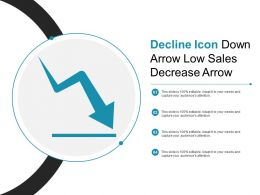 Decline Icon Down Arrow Low Sales Decrease Arrow