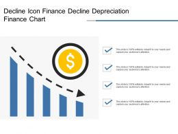 Decline Icon Finance Decline Depreciation Finance Chart