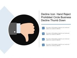 Decline Icon Hand Reject Prohibited Circle Business Decline Thumb Down