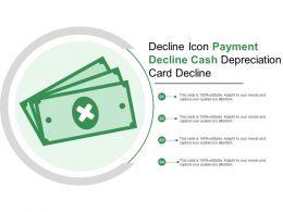 Decline Icon Payment Decline Cash Depreciation Card Decline
