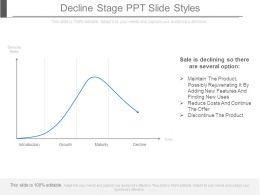 Decline Stage Ppt Slide Styles