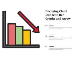 Declining Chart Icon With Bar Graphs And Arrow