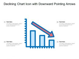 Declining Chart Icon With Downward Pointing Arrows