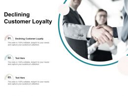 Declining Customer Loyalty Ppt Powerpoint Presentation Portfolio Design Templates Cpb
