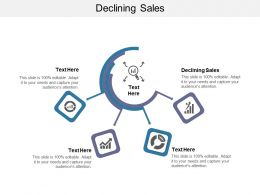 Declining Sales Ppt Powerpoint Presentation Show Infographic Template Cpb