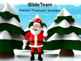 Decorated Christmas Trees Pictures Of Jesus Snow With Santa Holidays Templates Ppt For Slides