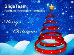 Decorated Christmas Trees Pictures Of Jesus Spiral Abstract Background Powerpoint Templates Ppt
