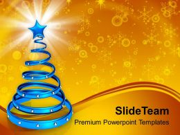 Decorated Christmas Trees Pictures Of Jesus Spiral With Powerpoint Templates Ppt For Slides