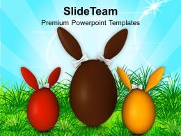 Decorating Easter Eggs Surprise Bunny For Family Powerpoint Templates Ppt Backgrounds Slides
