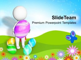 Decorating Easter Eggs Surprises Are Waiting For Powerpoint Templates Ppt Backgrounds Slides