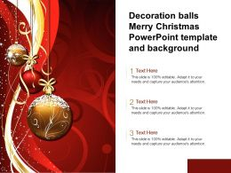 Decoration Balls Merry Christmas Powerpoint Template And Background
