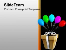Decorative Gift With Balloons PowerPoint Templates PPT Themes And Graphics 0113