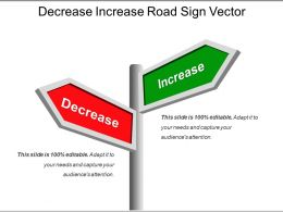 Decrease Increase Road Sign Vector