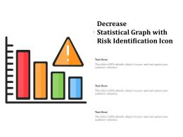 Decrease Statistical Graph With Risk Identification Icon