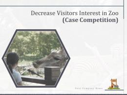 Decrease Visitors Interest In Zoo Case Competition Powerpoint Presentation Slides