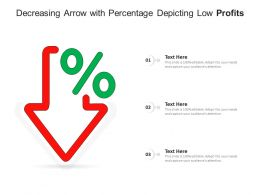 Decreasing Arrow With Percentage Depicting Low Profits