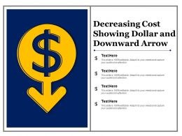 Decreasing Cost Showing Dollar And Downward Arrow
