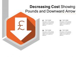 Decreasing Cost Showing Pounds And Downward Arrow