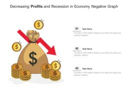 Decreasing Profits And Recession In Economy Negative Graph