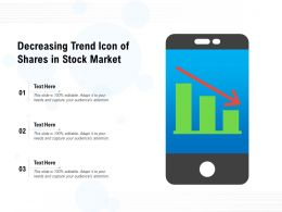 Decreasing Trend Icon Of Shares In Stock Market