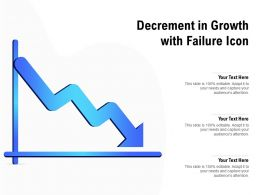 Decrement In Growth With Failure Icon