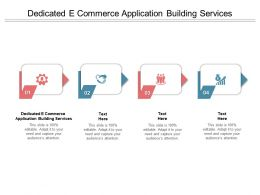 Dedicated E Commerce Application Building Services Ppt Powerpoint Presentation Portfolio Elements Cpb