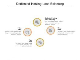 Dedicated Hosting Load Balancing Ppt Powerpoint Presentation Infographics Graphics Cpb