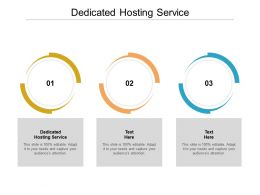 Dedicated Hosting Service Ppt Powerpoint Presentation Professional Design Templates Cpb
