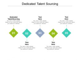 Dedicated Talent Sourcing Ppt Powerpoint Presentation Visual Aids Gallery Cpb