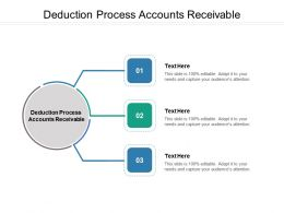 Deduction Process Accounts Receivable Ppt Powerpoint Presentation Styles Guidelines Cpb