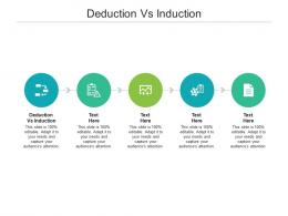 Deduction Vs Induction Ppt Powerpoint Presentation Gallery Brochure Cpb