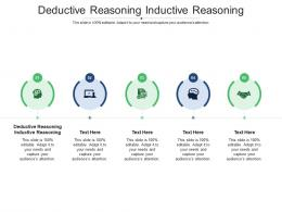 Deductive Reasoning Inductive Reasoning Ppt Powerpoint Presentation Inspiration Diagrams Cpb