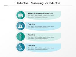 Deductive Reasoning Vs Inductive Ppt Powerpoint Presentation Infographic Template Slide Cpb