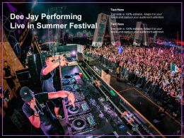 Dee Jay Performing Live In Summer Festival