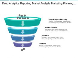 Deep Analytics Reporting Market Analysis Marketing Planning Process