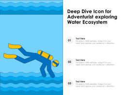 Deep Dive Icon For Adventurist Exploring Water Ecosystem