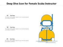 Deep Dive Icon For Female Scuba Instructor