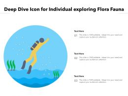 Deep Dive Icon For Individual Exploring Flora Fauna
