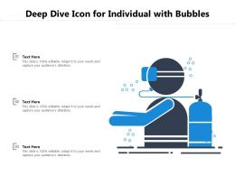 Deep Dive Icon For Individual With Bubbles