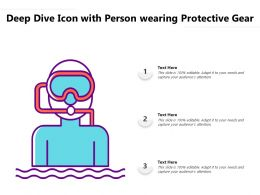 Deep Dive Icon With Person Wearing Protective Gear
