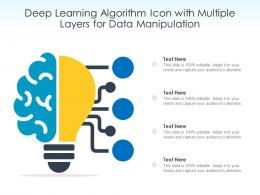 Deep Learning Algorithm Icon With Multiple Layers For Data Manipulation