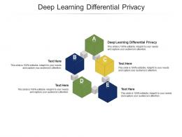 Deep Learning Differential Privacy Ppt Powerpoint Presentation Outline Templates Cpb