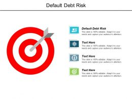 Default Debt Risk Ppt Powerpoint Presentation Infographics Template Cpb