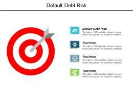 Default Debt Risk Ppt Powerpoint Presentation Infographics Template Cpb