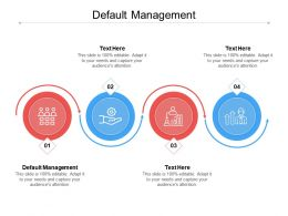 Default Management Ppt Powerpoint Presentation Infographic Template File Formats Cpb